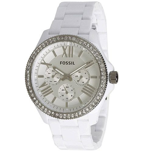 624-020 - Fossil Women's Cecile Quartz Plastic Resin Bracelet Watch