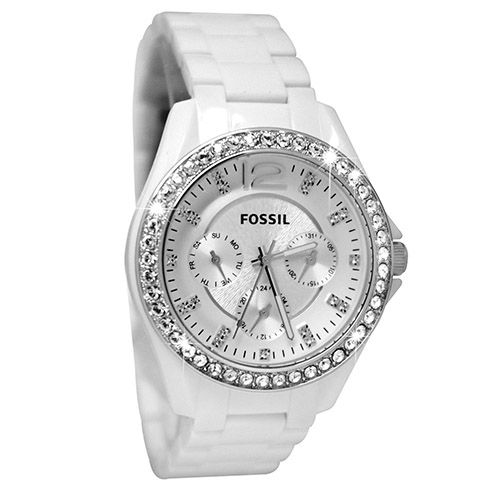 624-029 - Fossil Women's Riley Quartz Plastic Resin Bracelet Watch