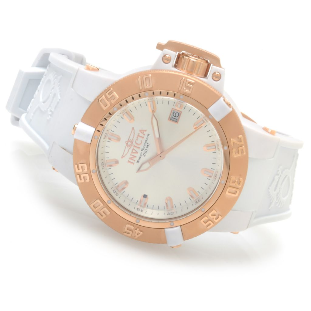 624-042 - Invicta Women's Subaqua Noma III Anatomic Quartz Silicone Strap Watch w/ Travel Box