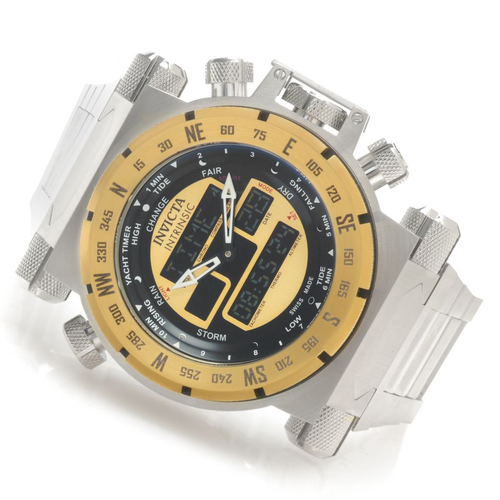 624-044 - Invicta Men's Coalition Force Swiss Ana/Digi Stainless Steel Bracelet Watch