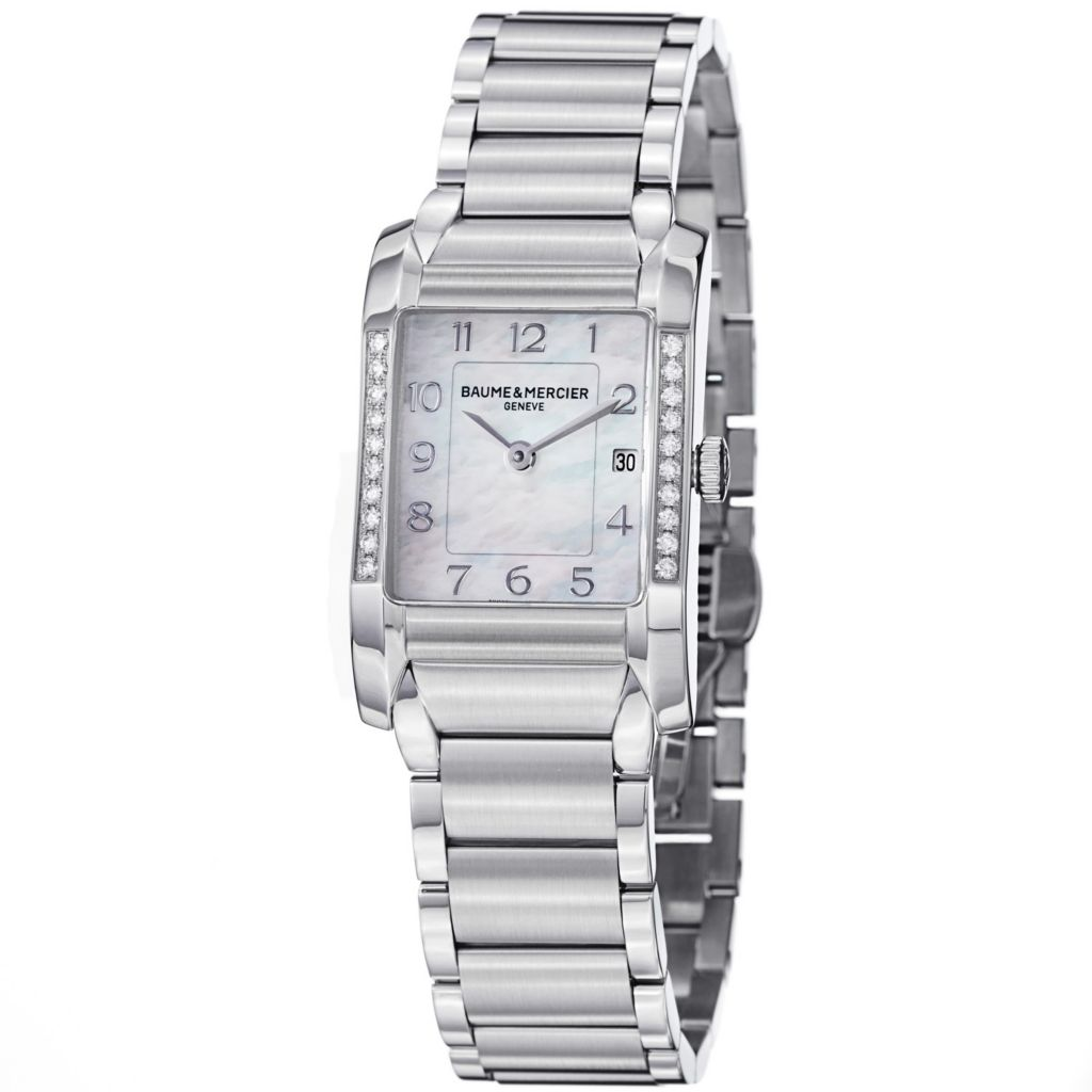 624-052 - Baume & Mercier Women's Hampton Swiss Quartz Diamond Accent Bezel Bracelet Watch