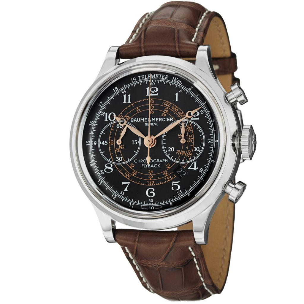 624-055 - Baume Mercier Men's Capeland Swiss Automatic Chronograph Leather Strap Watch