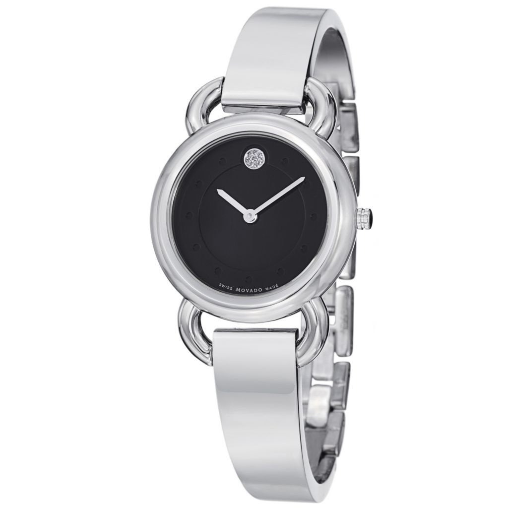 624-067 - Movado Women's Linio Swiss Quartz Stainless Steel Bangle Bracelet Watch