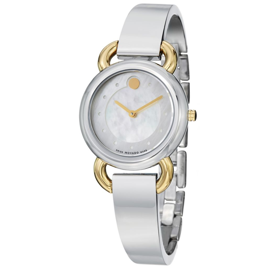 624-069 - Movado Women's Linio Swiss Quartz Two-Tone Stainless Steel Bangle Bracelet Watch