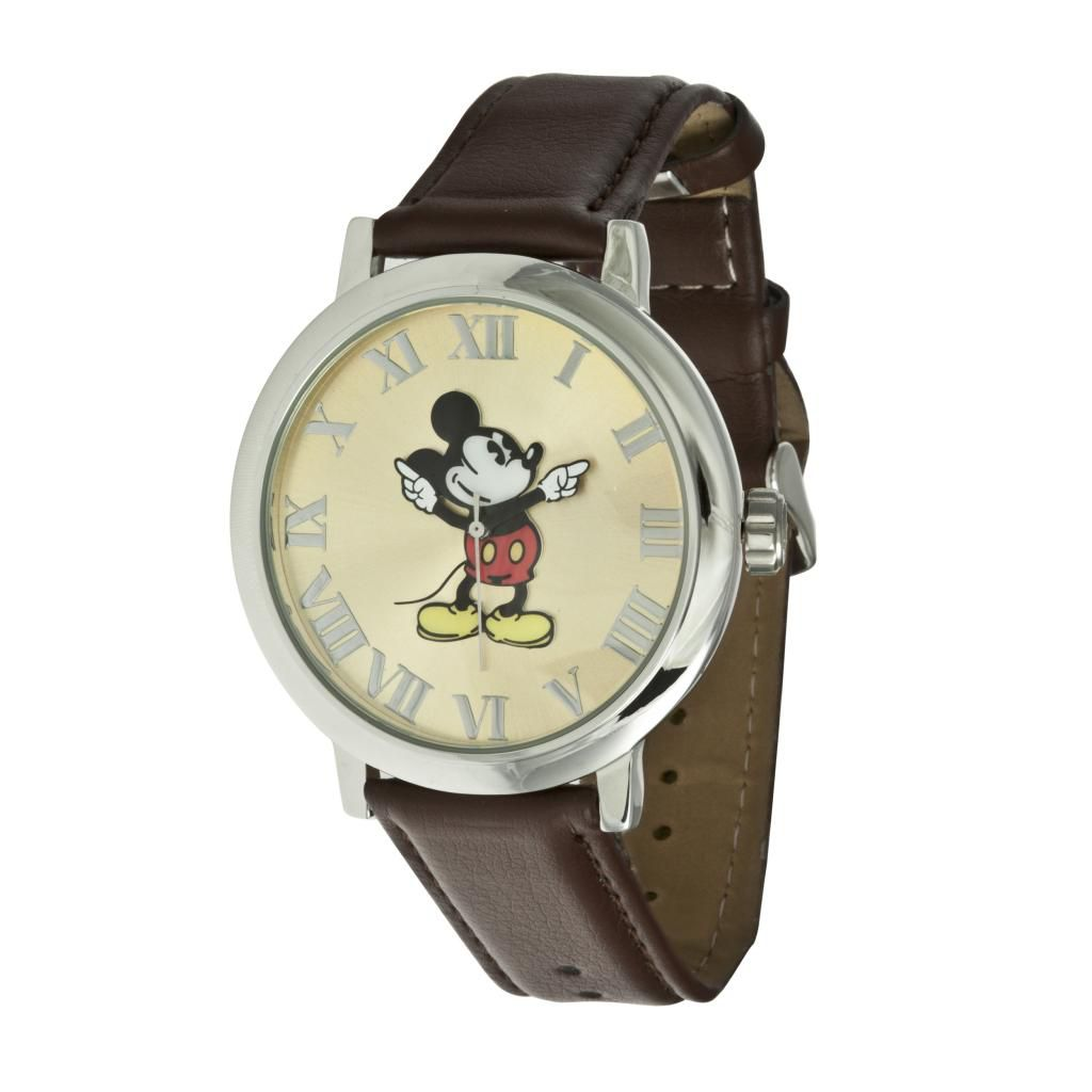 624-089 - Ingersoll Disney Men's Quartz Presentation Mickey Mouse Dial Polyurethane Strap Watch