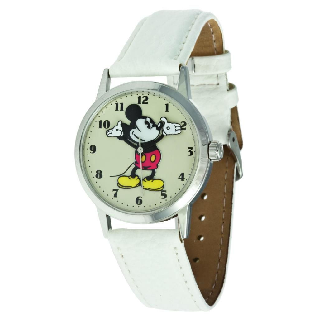 624-091 - Ingersoll Disney Mid-Size Quartz Moving Arm Mickey Polyurethane Strap Watch