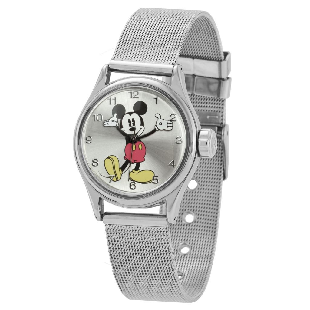 624-093 - Ingersoll Disney Mid-Size Quartz Moving Arm Mickey Milanese Bracelet Watch