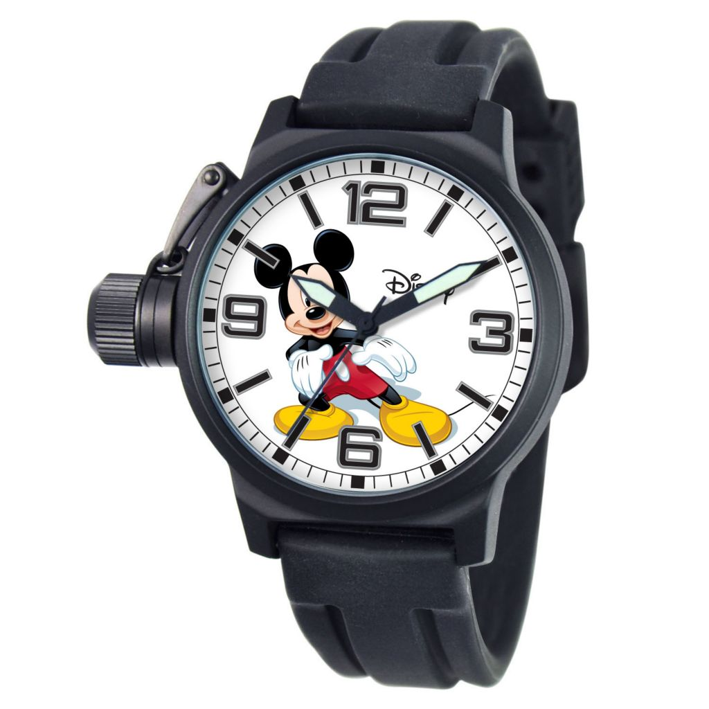 624-119 - Disney Men's Mickey Mouse Crown Protector Bracelet Watch