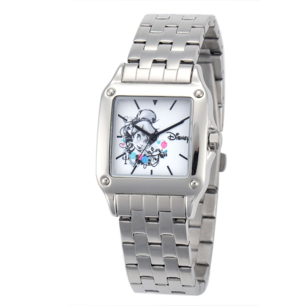 624-128 - Disney Women's Quartz Tinker Bell Stainless Steel Bracelet Watch