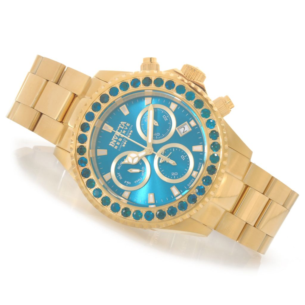624-141 - Invicta Reserve 47mm Pro Diver Neon Apatite Swiss Made Limited Edition Bracelet Watch