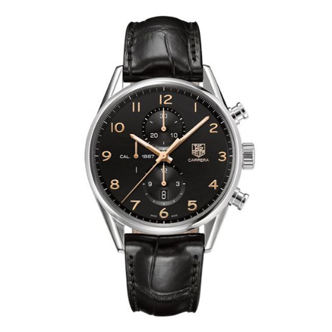 624-169 - Tag Heuer Men's Carrera Calibre 1887 Automatic Chronograph Alligator Strap Watch
