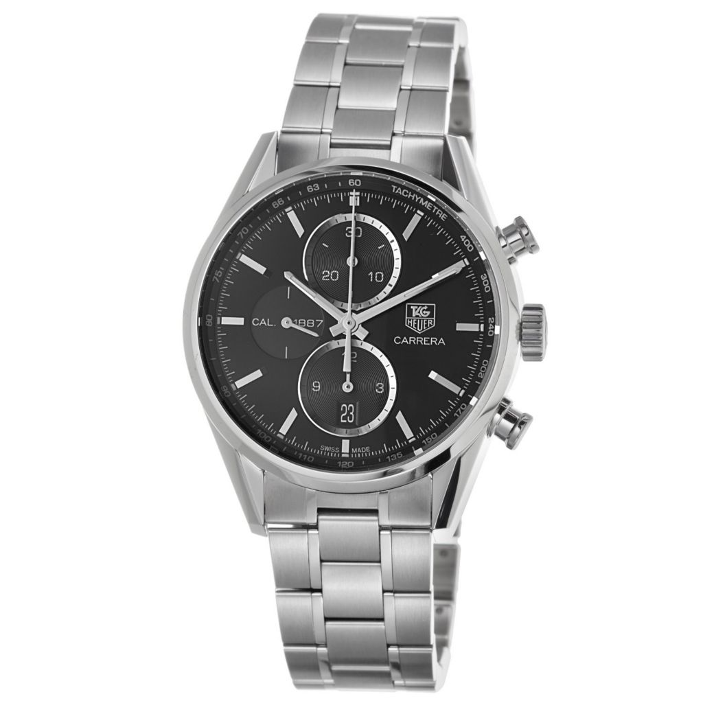 624-170 - Tag Heuer 41mm Carrera Automatic Chronograph Bracelet Watch
