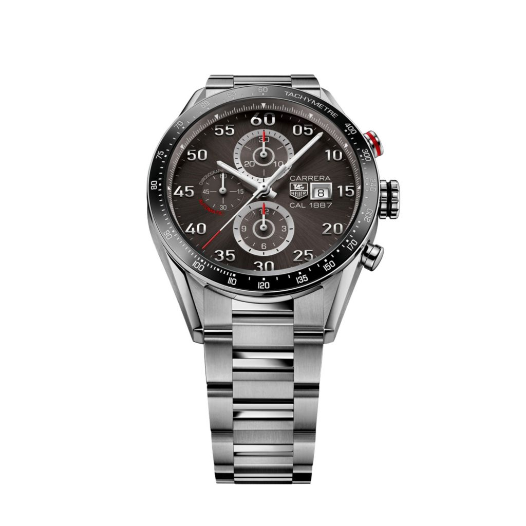 624-173 - Tag Heuer Men's Carrera Automatic Chronograph Stainless Steel Bracelet Watch