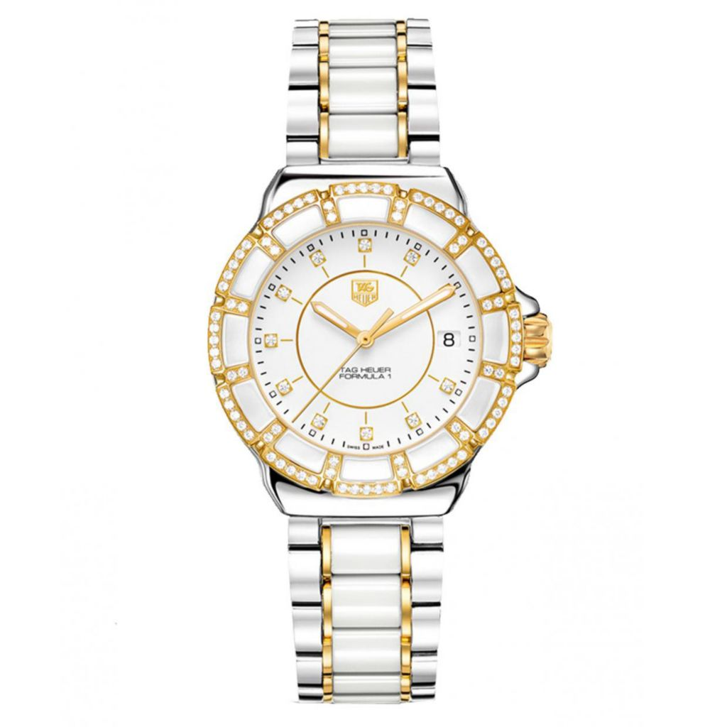 624-183 - Tag Heuer Women's Formula 1 Diamond Accented Swiss Made Quartz Bracelet Watch