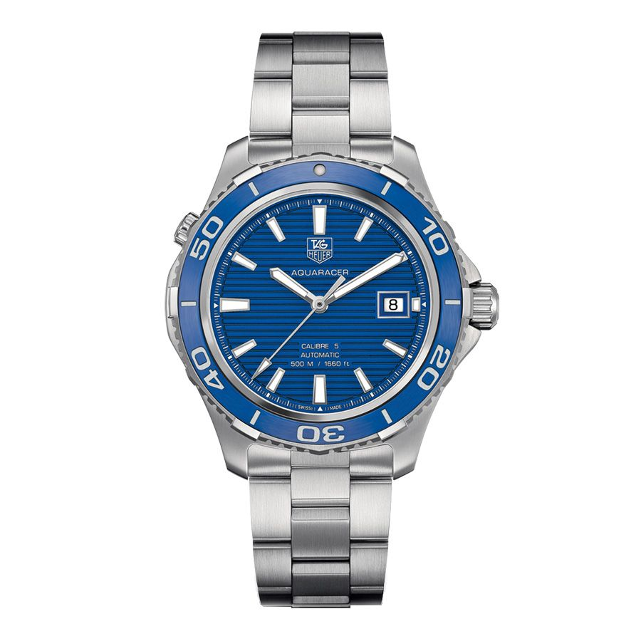 624-187 - Tag Heuer 41mm Aquaracer Swiss Automatic Stainless Steel Bracelet Watch