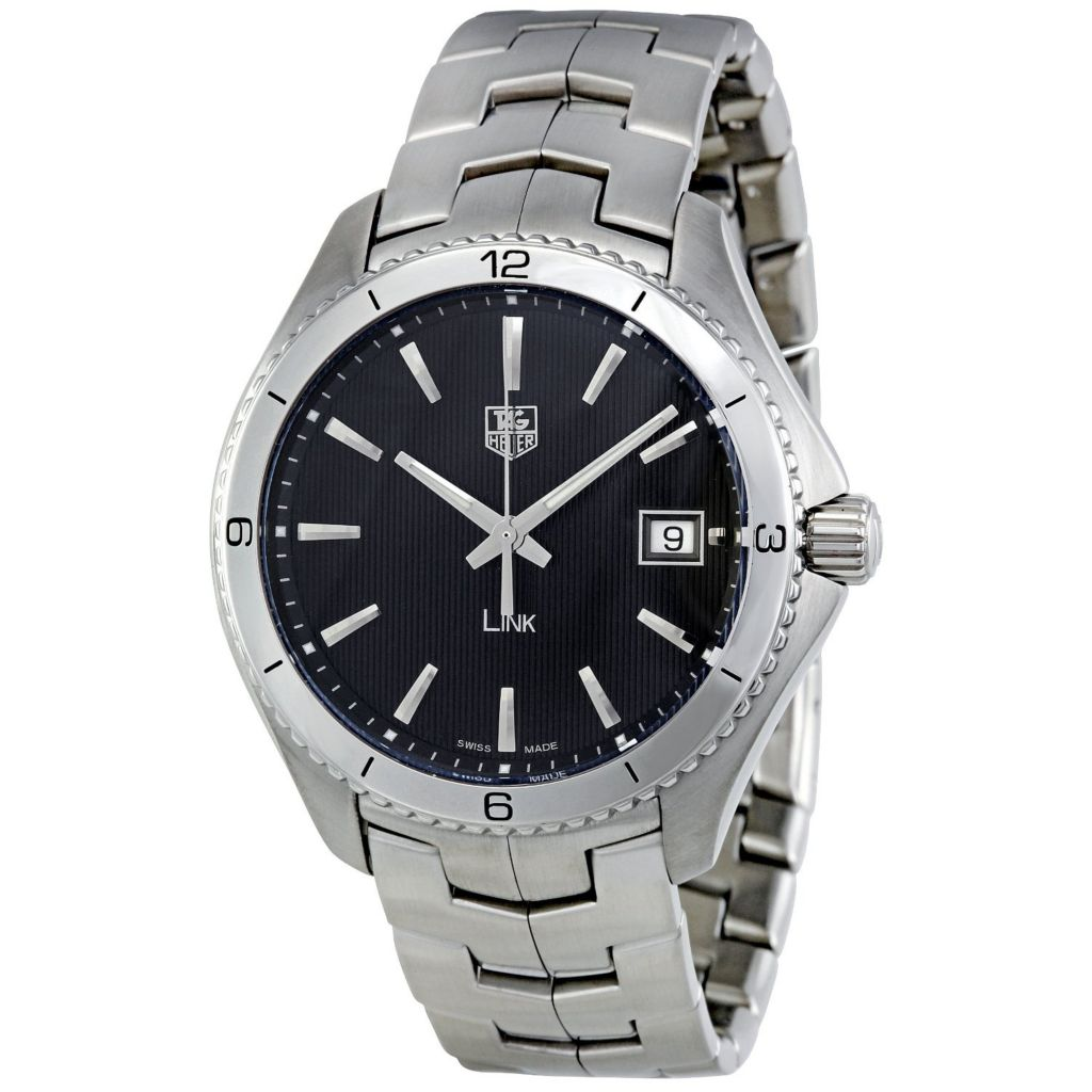 624-192 - Tag Heuer 40mm Link Swiss Quartz Stainless Steel Bracelet Watch