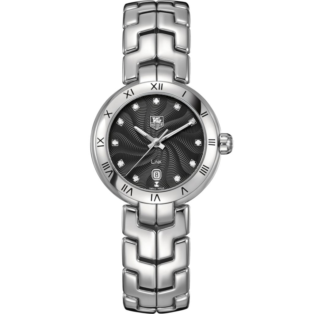 624-194 - Tag Heuer Women's Link Swiss Quartz Roman Numeral Bezel Stainless Steel Bracelet Watch