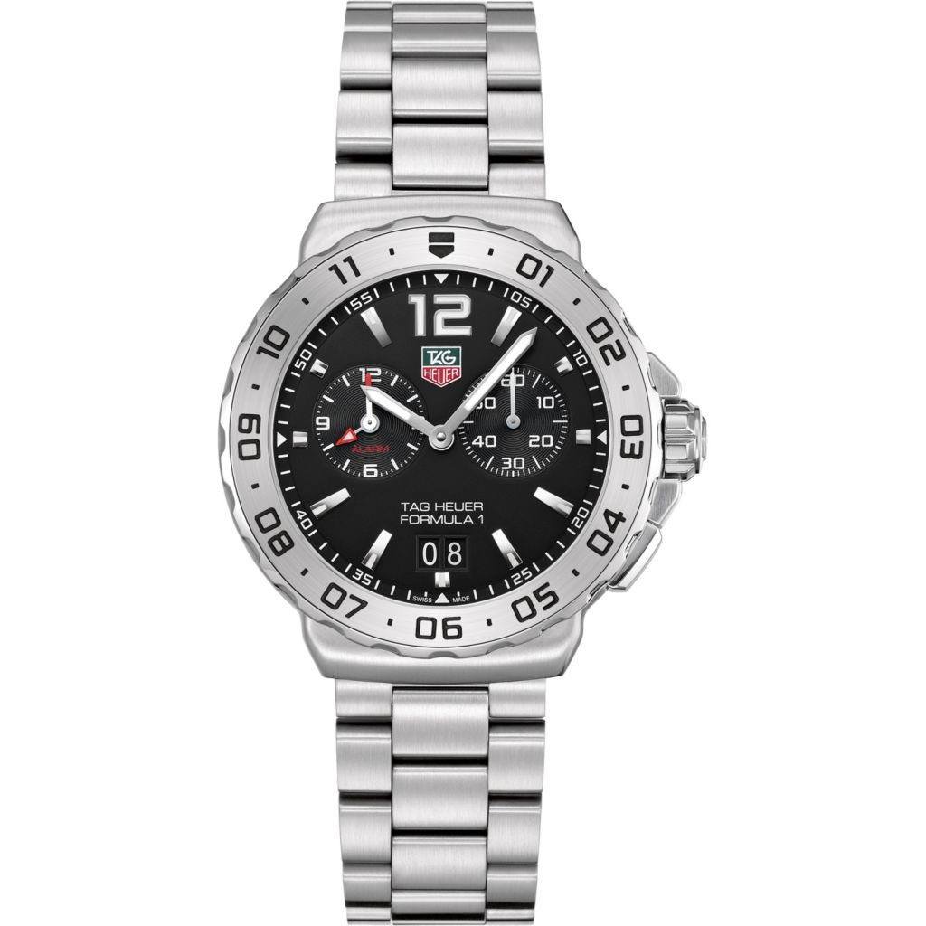 624-202 - Tag Heuer Men's Formula 1 Swiss Quartz Grande Date Alarm Stainless Steel Bracelet Watch