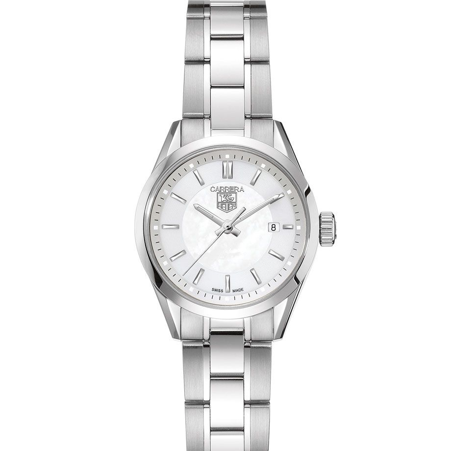 624-203 - Tag Heuer Women's Carrera Swiss Quartz Stainless Steel Bracelet Watch