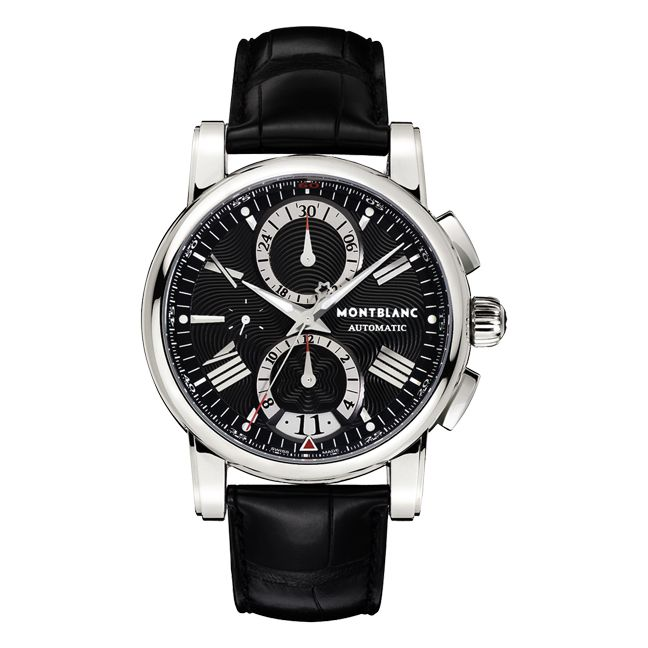 624-206 - Montblanc Men's Star 4810 Swiss Automatic Chronograph Alligator Strap Watch