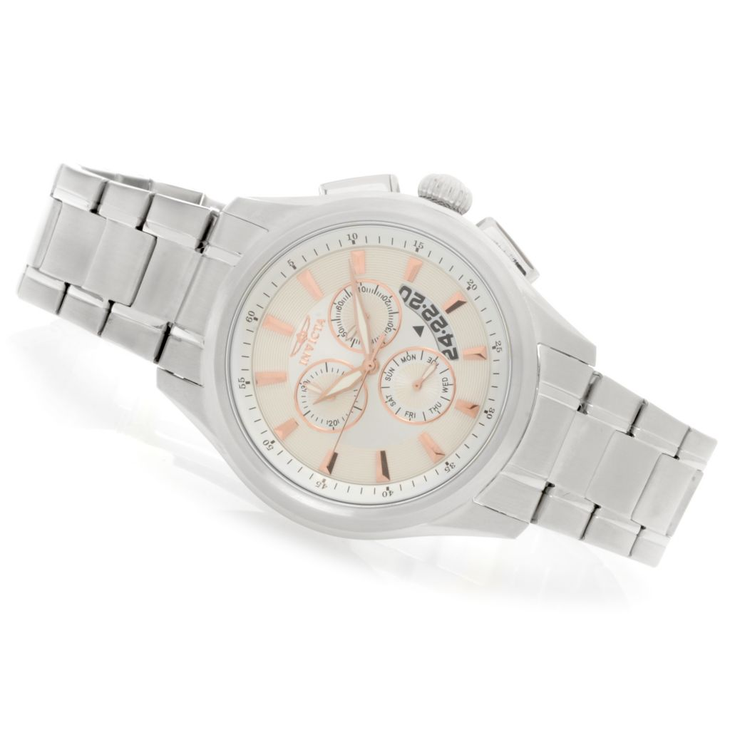 624-215 - Invicta Men's Specialty Quartz Chronograph Bracelet Watch w/ Three-Slot Dive Case