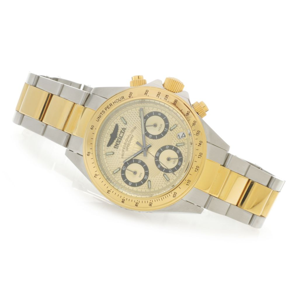 624-228 - Invicta Women's Speedway Quartz Chronograph Stainless Steel Bracelet Watch