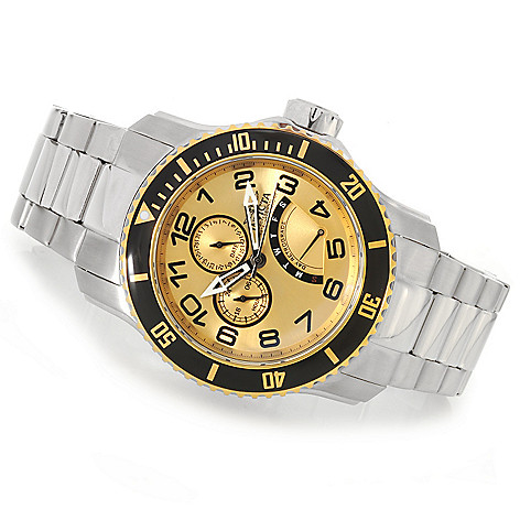 624-230 - Invicta 48mm Pro Diver Scuba Generation II Quartz Stainless Steel Bracelet Watch w/ 3-Slot Dive Case