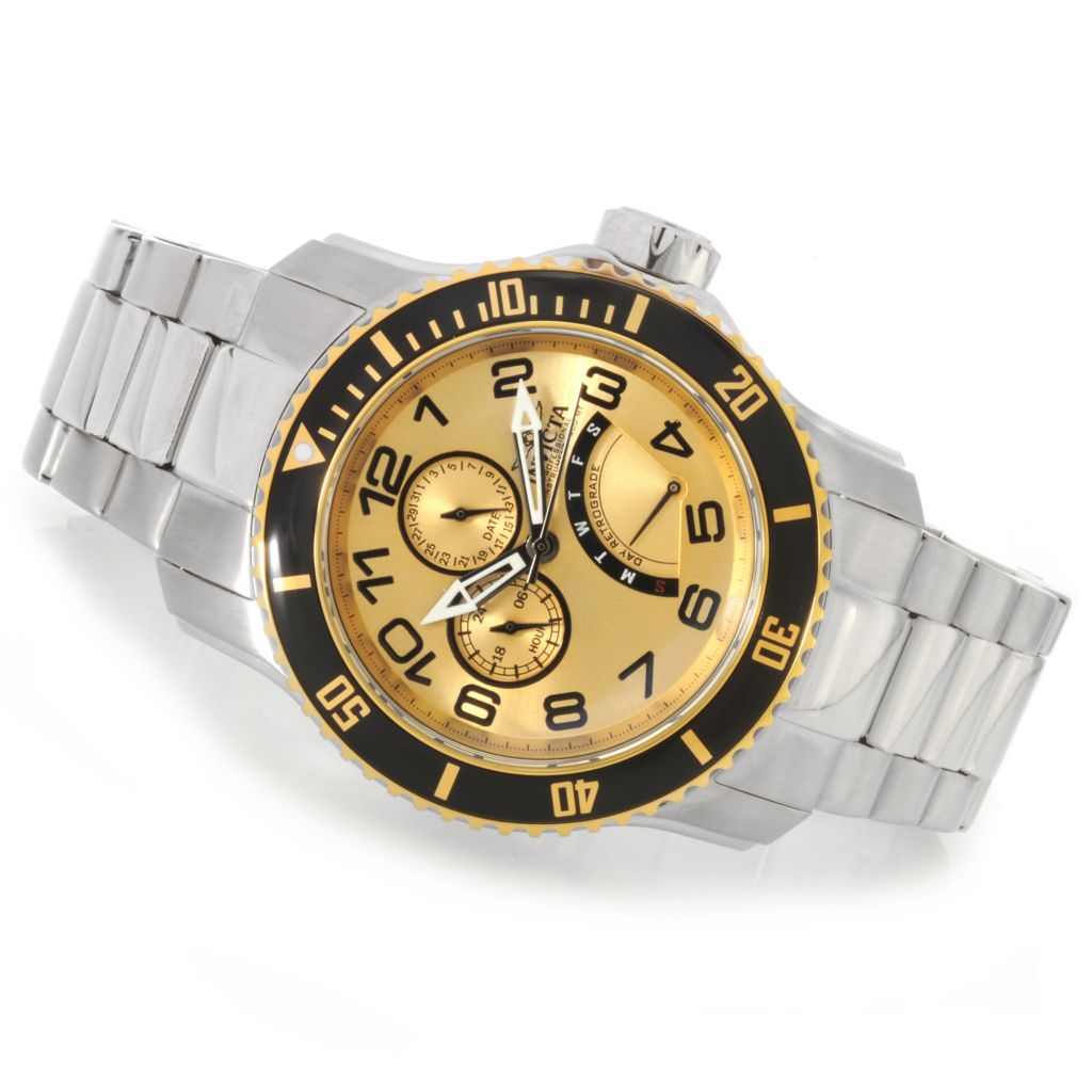 624-230 - Invicta Men's Pro Diver Quartz Multi Function Bracelet Watch w/ Three-Slot Dive Case