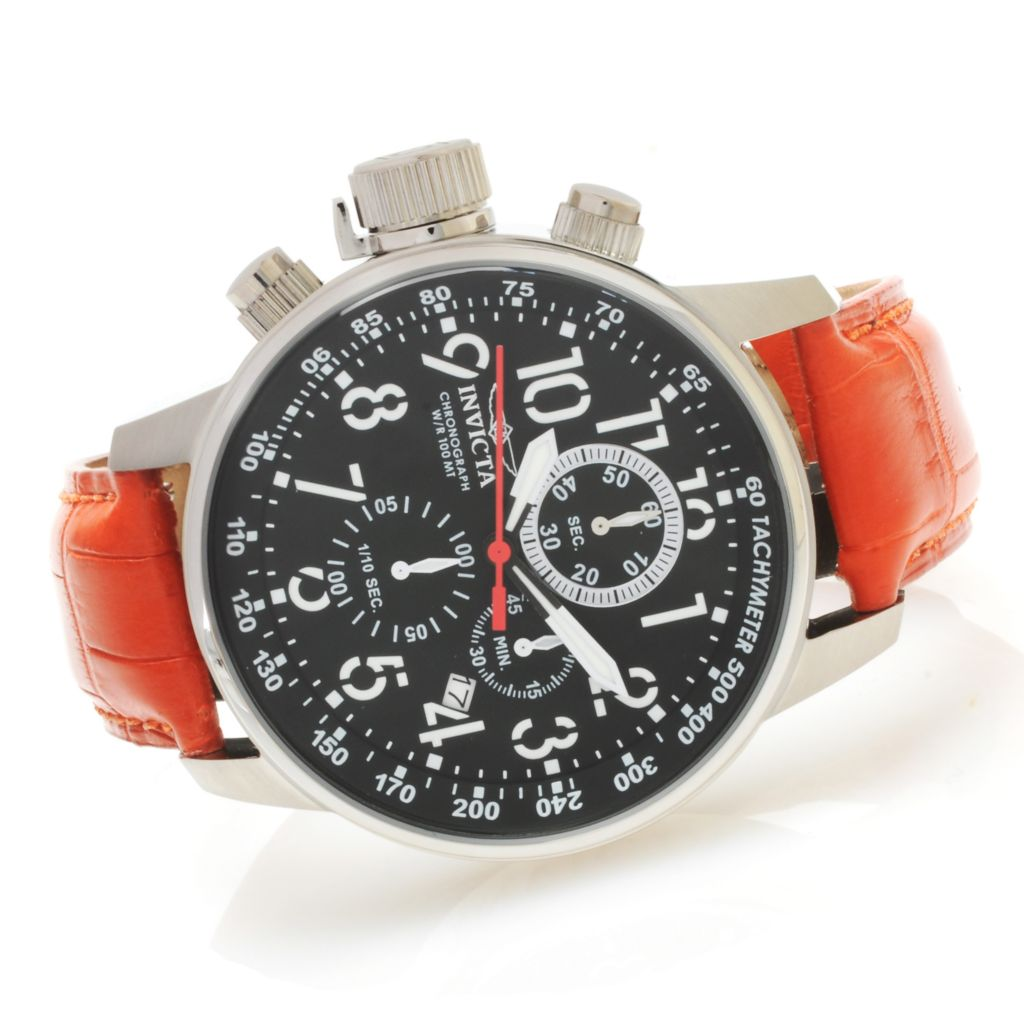 624-233 - Invicta Men's I Force Quartz Chronograph Alligator Strap Watch