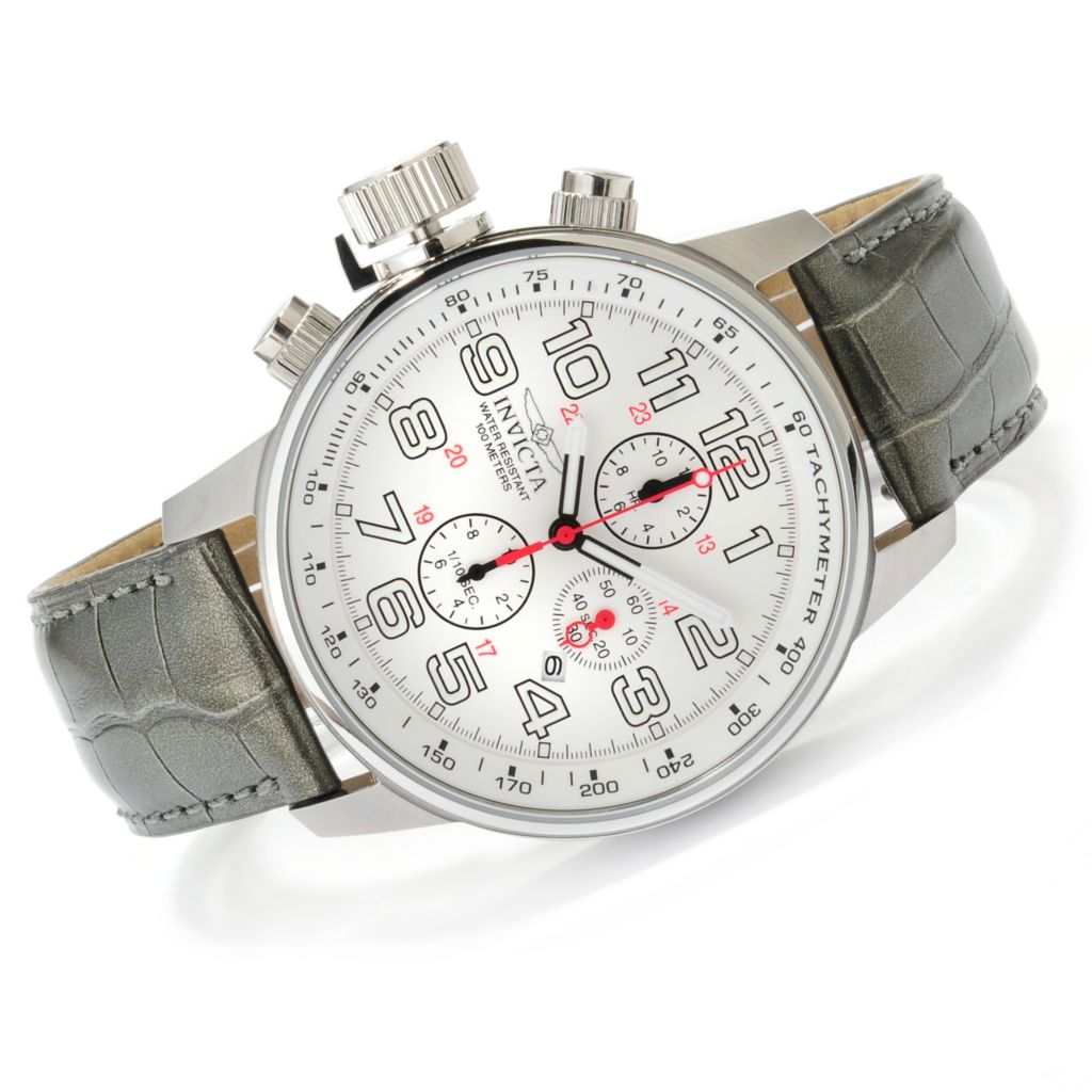 624-235 - Invicta Men's I Force Quartz Chronograph Alligator Strap Watch