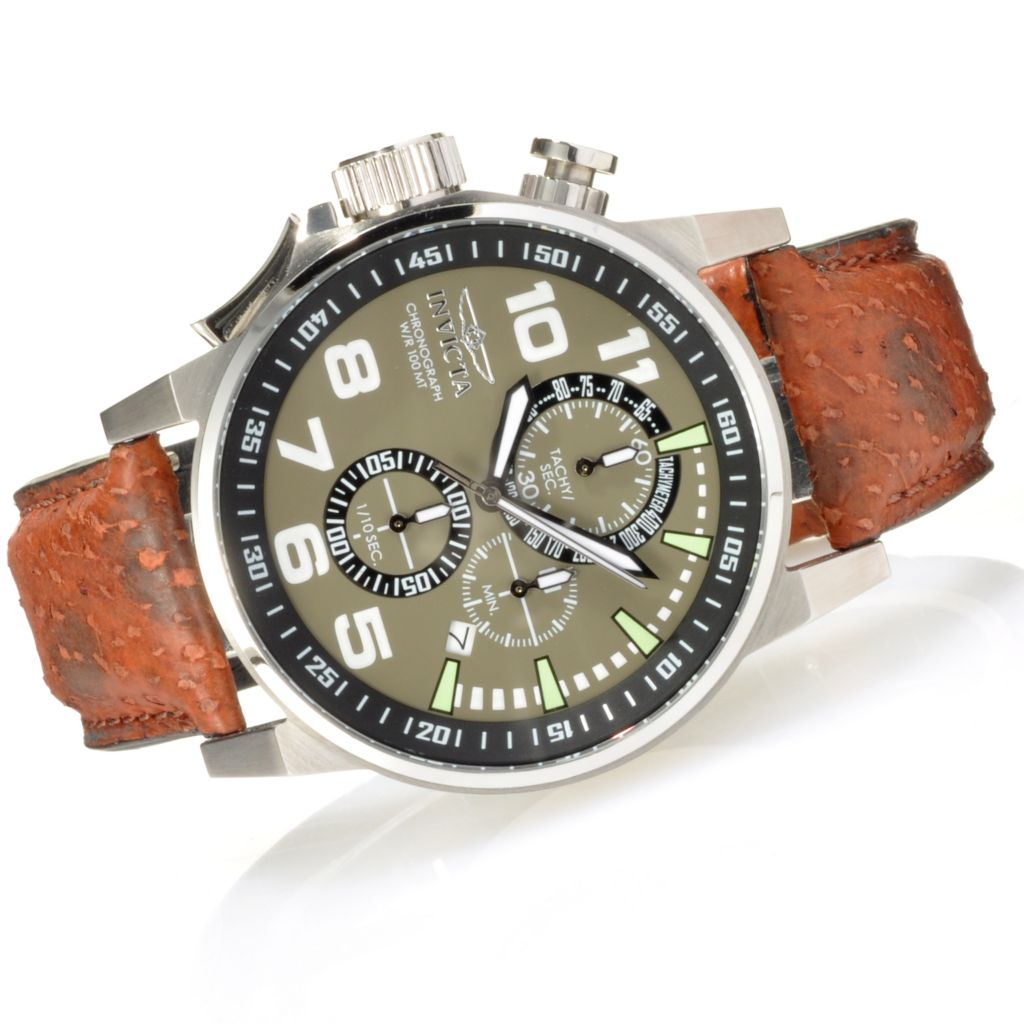 624-236 - Invicta Mid-Size I Force Quartz Chronograph Wolffish Strap Watch