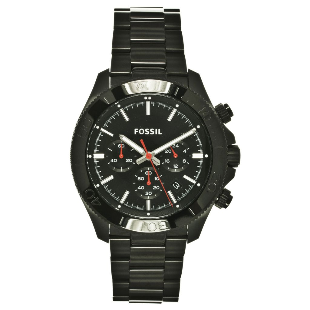 624-264 - Fossil Men's Retro Traveler Quartz Chronograph Stainless Steel Bracelet Watch