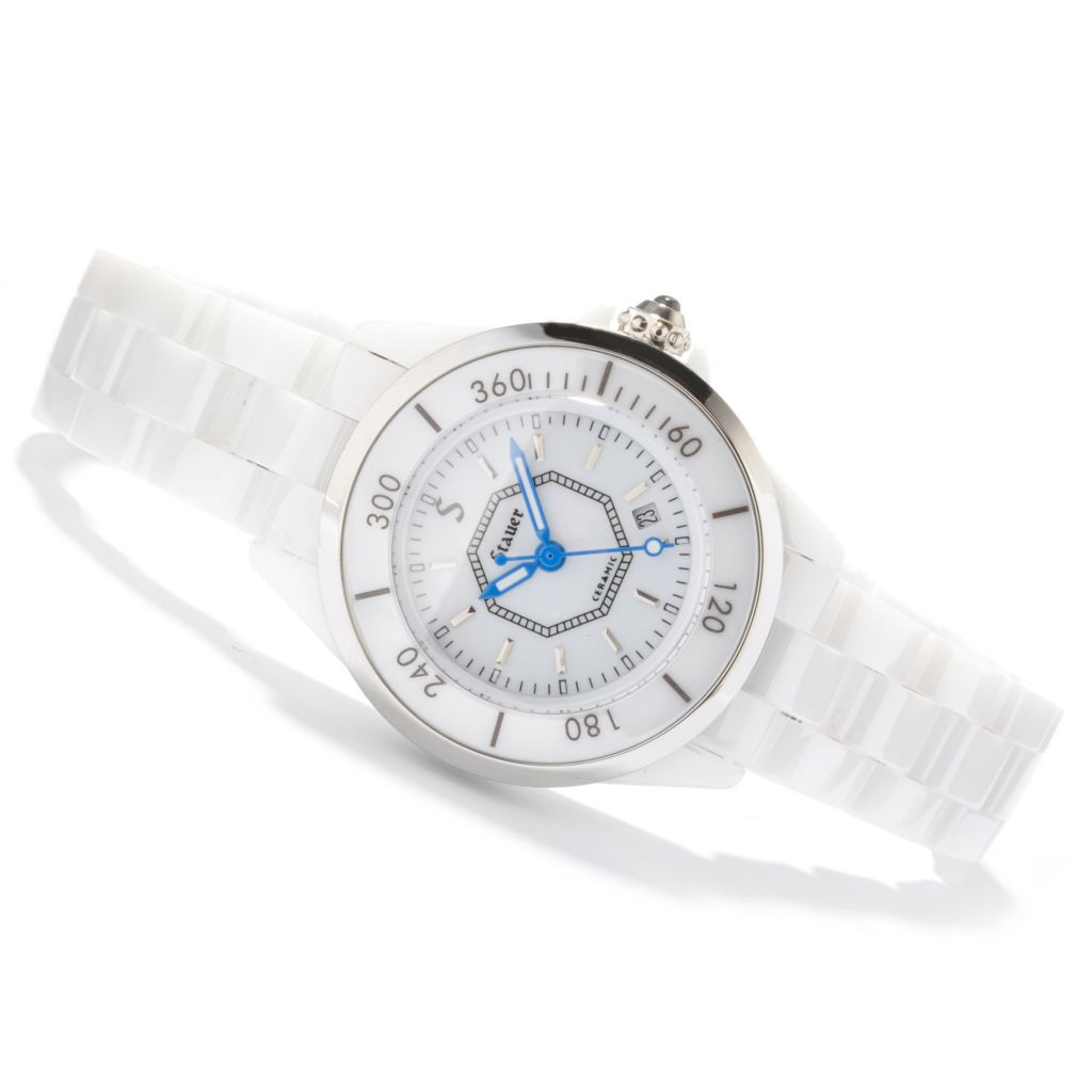 624-309 - Stauer Women's Ceramic Swiss Quartz Bracelet Watch
