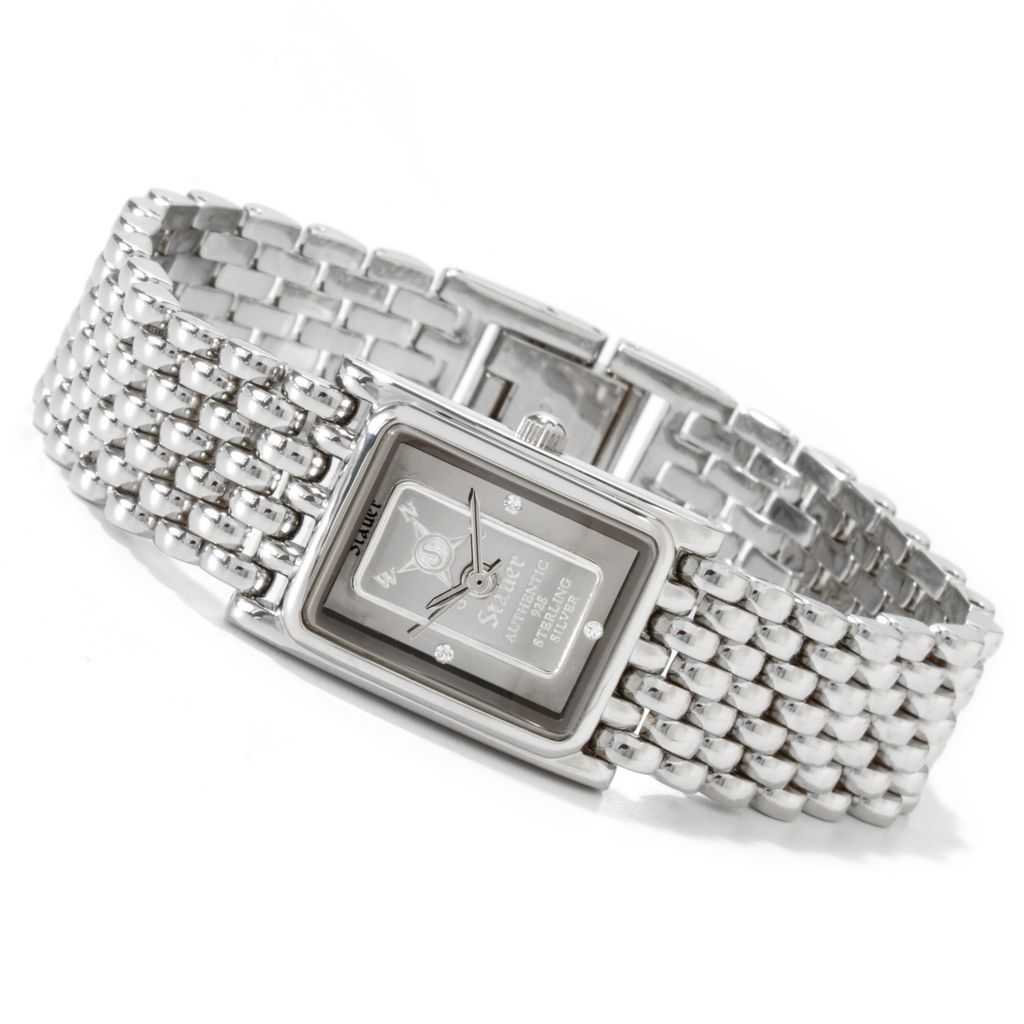 624-322 - Stauer Women's Ingot Quartz Movement Bracelet Watch