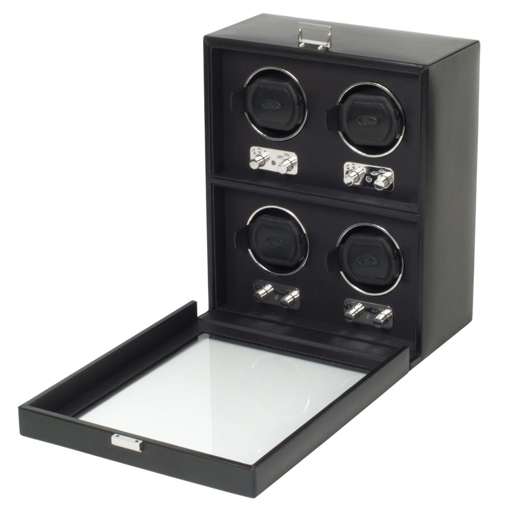 624-450 - Heritage by WOLF Four-Piece Watch Winder w/ Cover