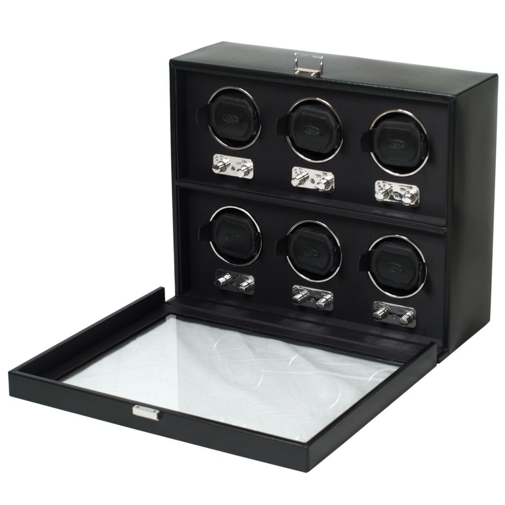 624-451 - Heritage by WOLF Six-Piece Watch Winder w/ Cover