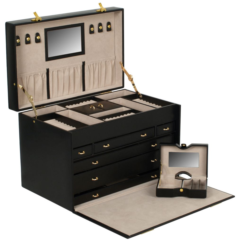 624-460 - WOLF Chelsea Extra Large Heirloom Jewelry Trunk