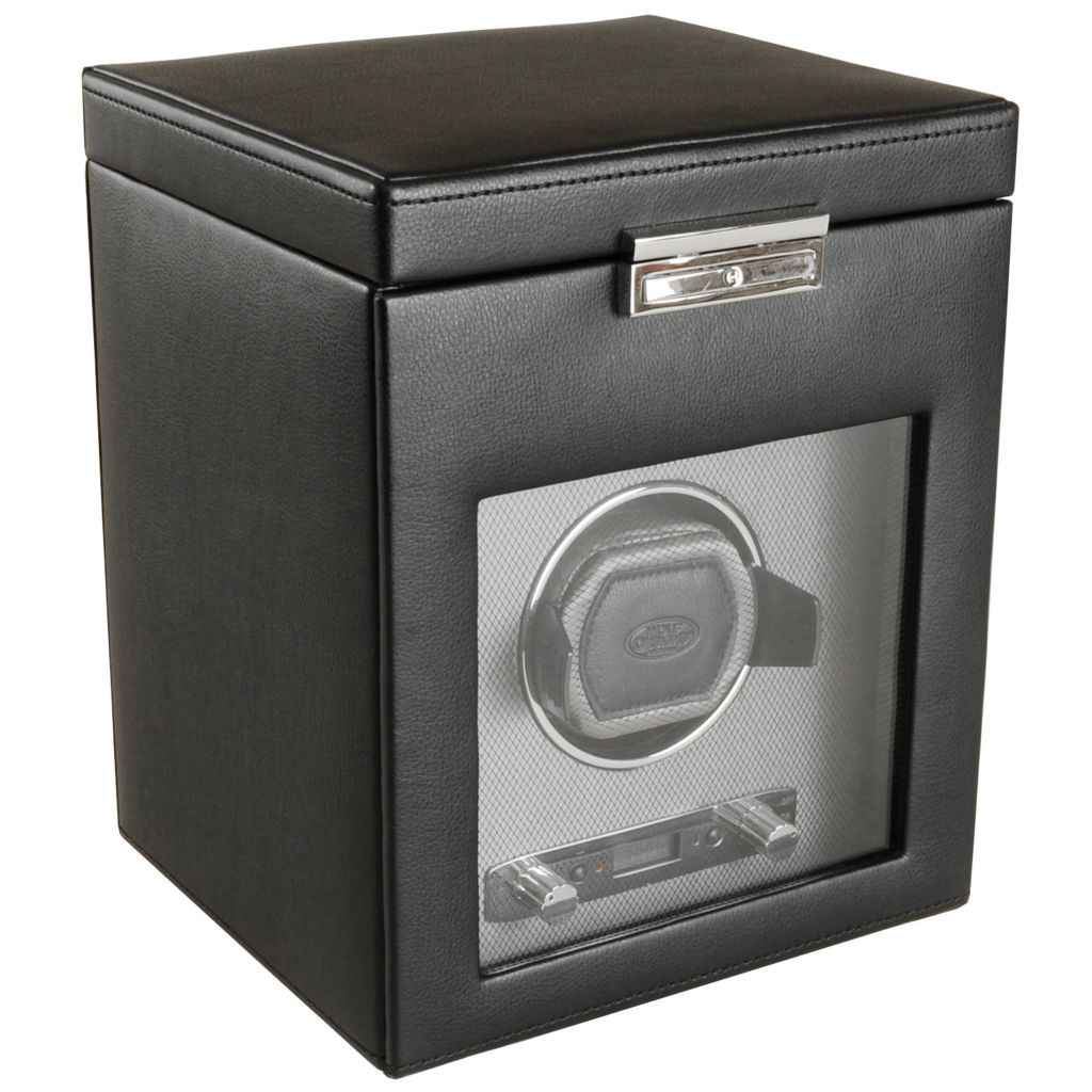 624-502 - WOLF Viceroy Module 2.7 Covered Programmable Single Slot Watch Winder w/ Storage