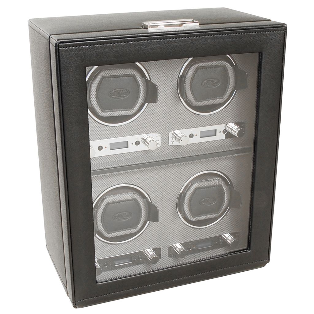 624-505 - WOLF Viceroy Module 2.7 Covered Programmable Four Slot Watch Winder