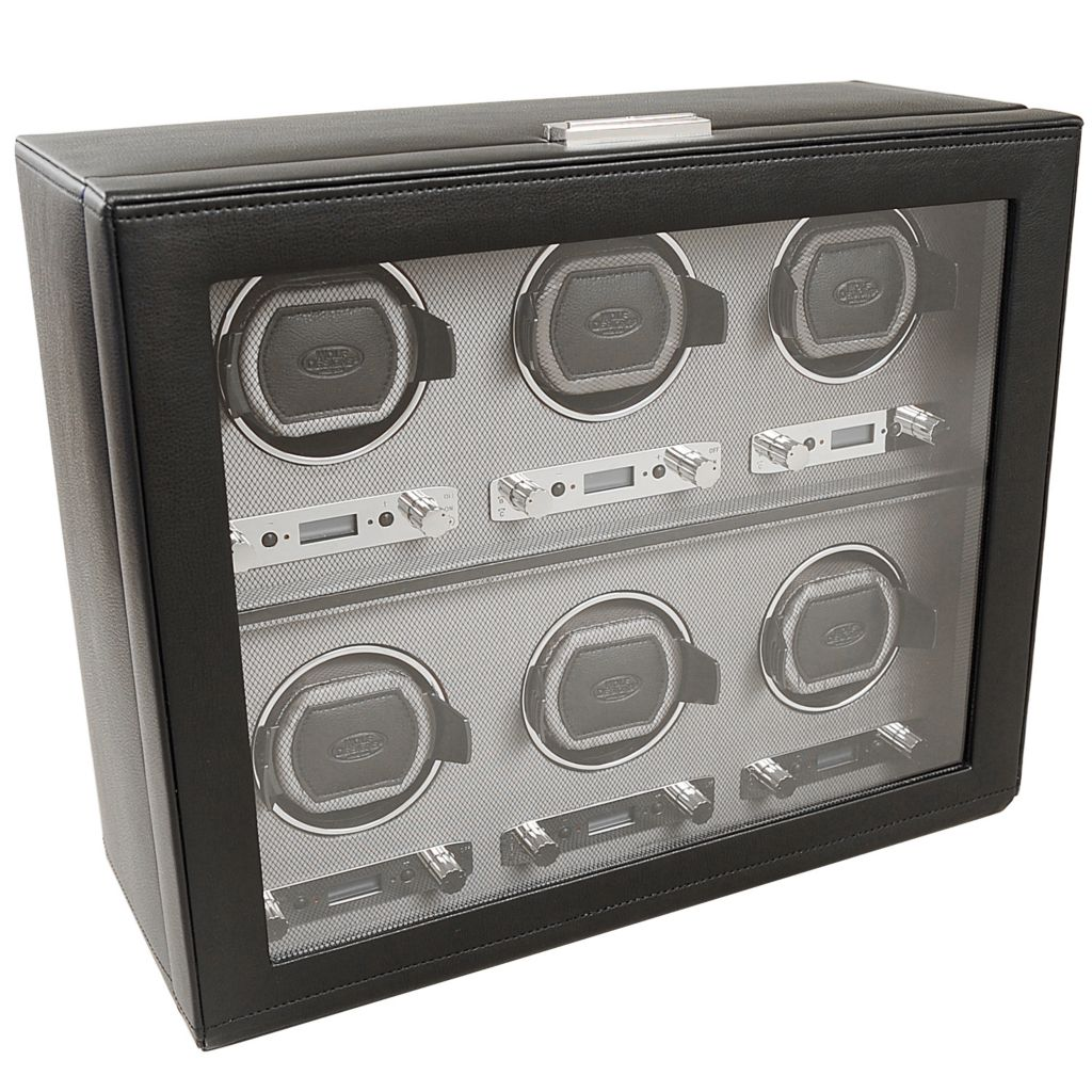 624-506 - WOLF Viceroy Module 2.7 Covered Programmable Six Slot Watch Winder