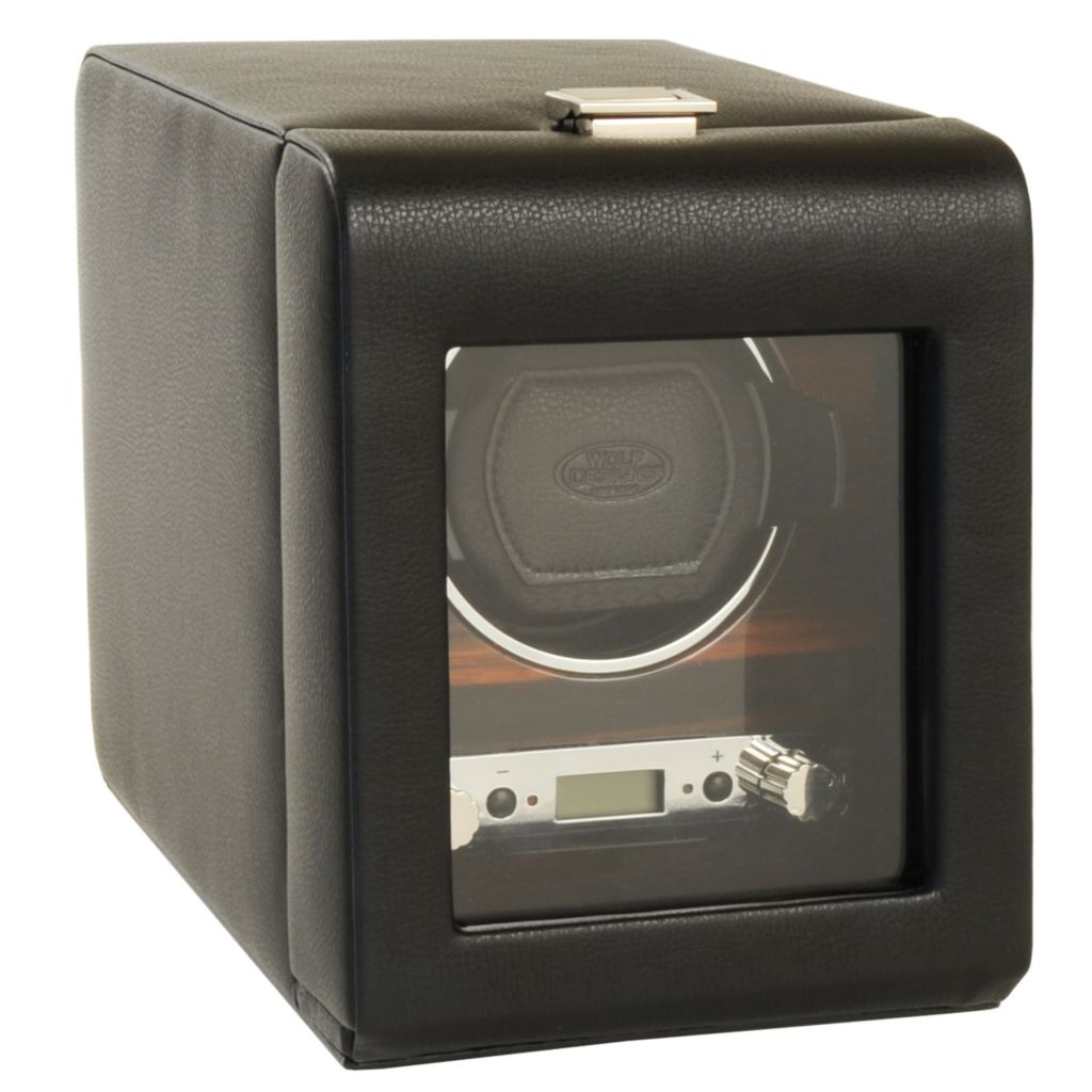 "624-508 - WOLF ""Roadster"" Covered Lockable Programmable Module 2.7 Single Watch Winder"