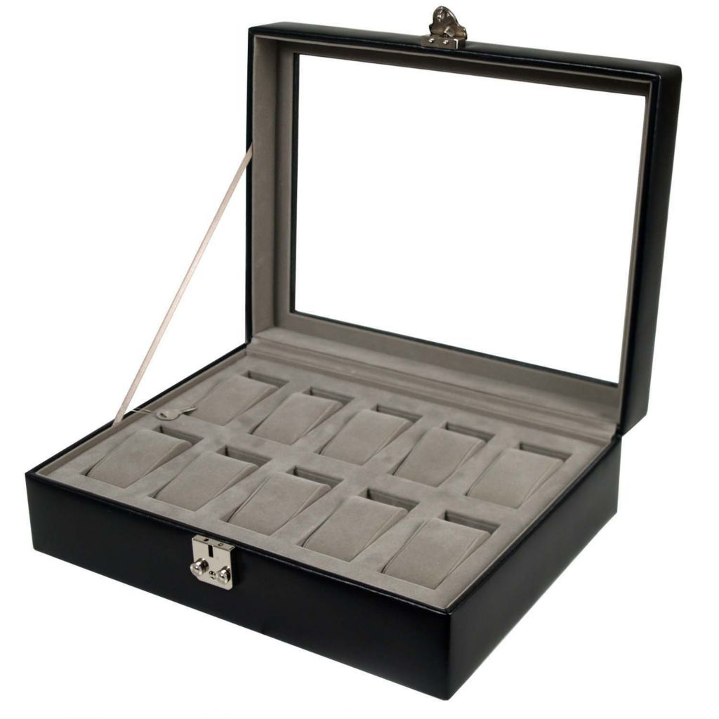 624-526 - Heritage by WOLF Ten-Piece Watch Storage Box w/ Cover