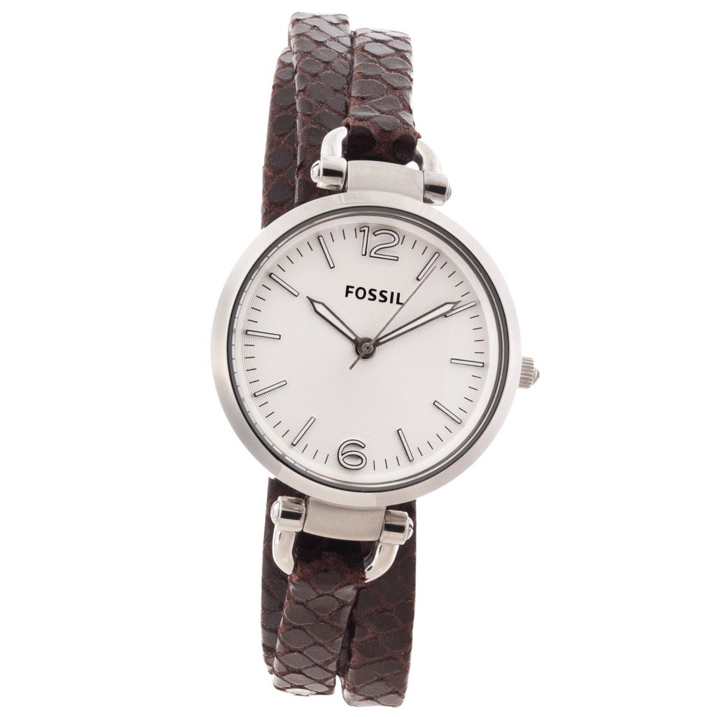 624-559 - Fossil Women's Georgia Quartz Triple Wrap Leather Strap Watch