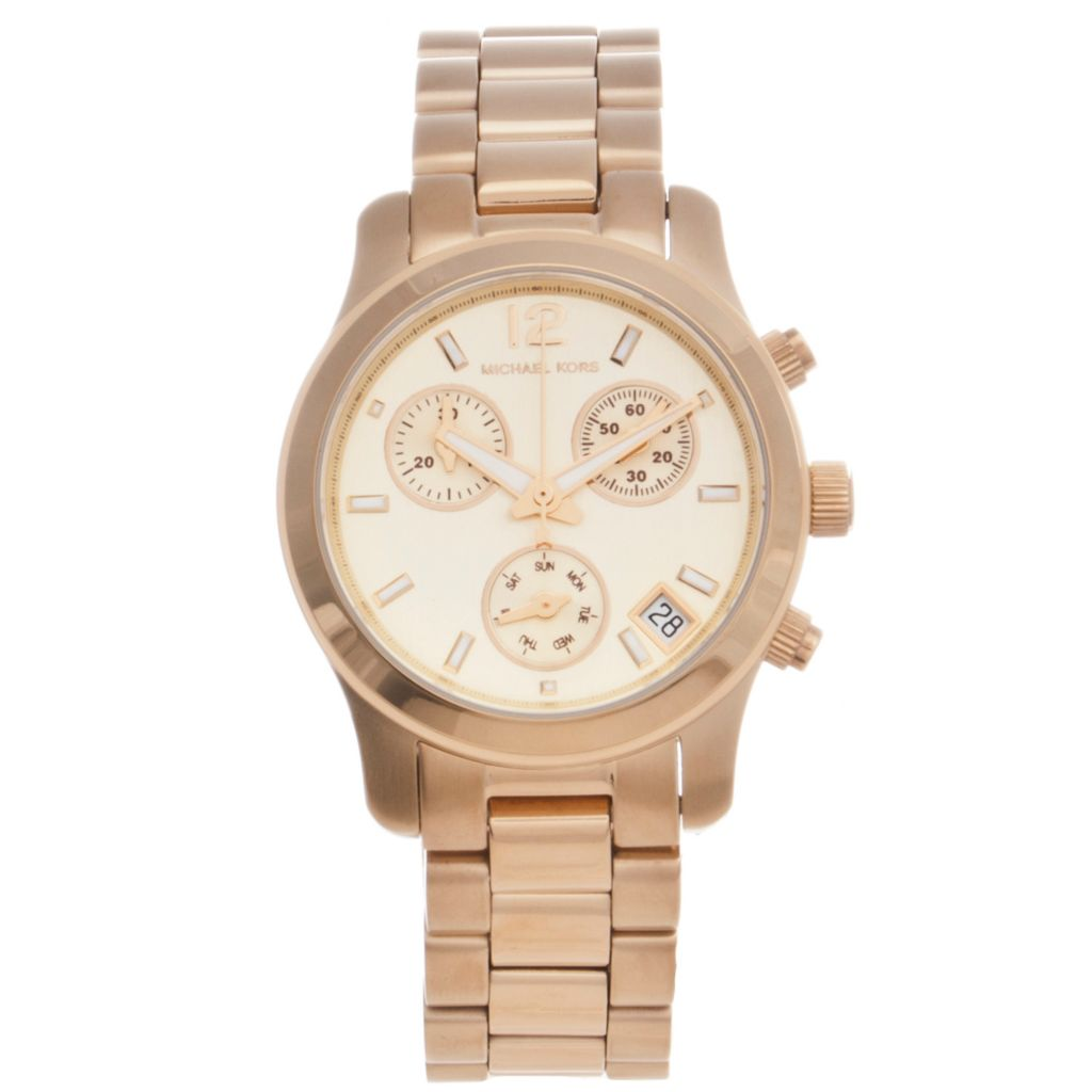 624-569 - Michael Kors Women's Quartz Chronograph Stainless Steel Bracelet Watch