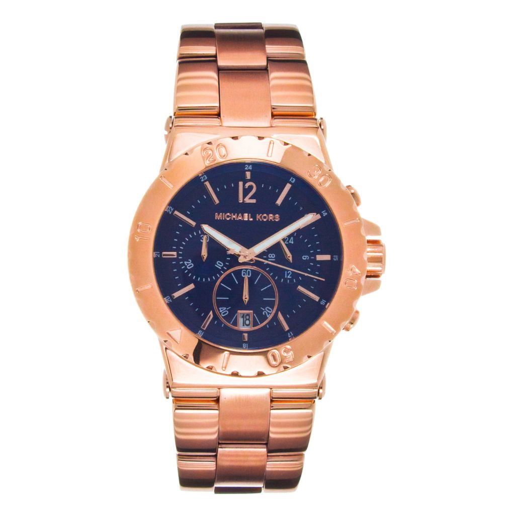 624-573 - Michael Kors Women's Quartz Chronograph Stainless Steel Bracelet Watch