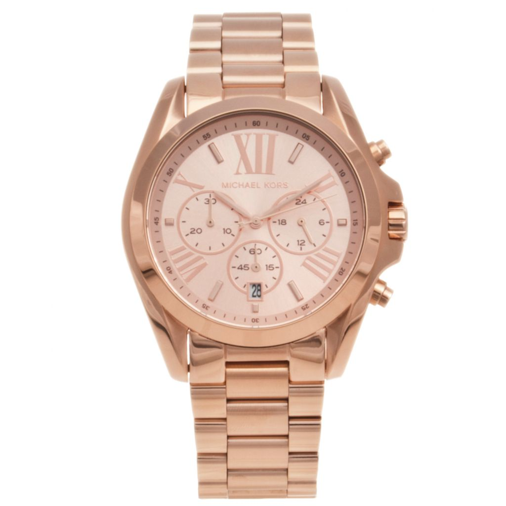 624-578 - Michael Kors Women's Bradshaw Quartz Chronograph Stainless Steel Bracelet Watch