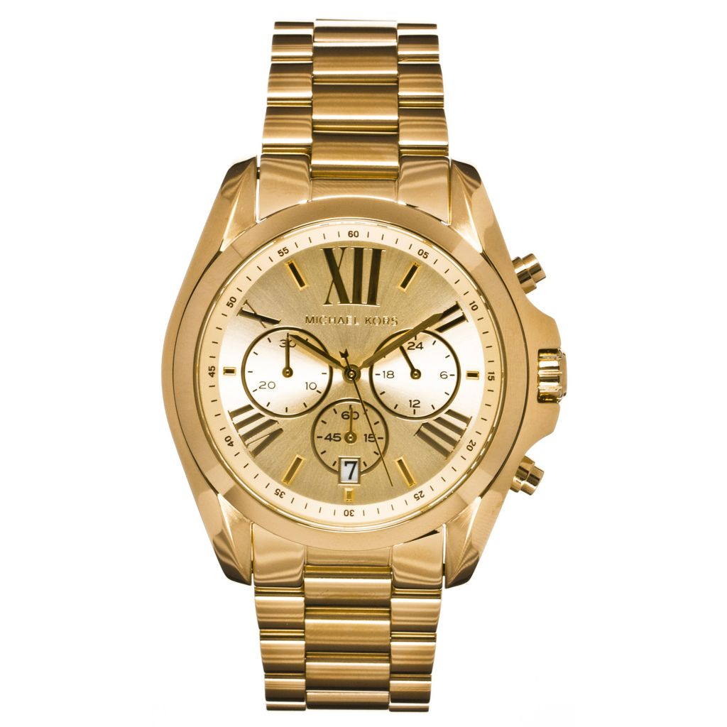 624-585 - Michael Kors Women's Bradshaw Quartz Chronograph Stainless Steel Bracelet Watch