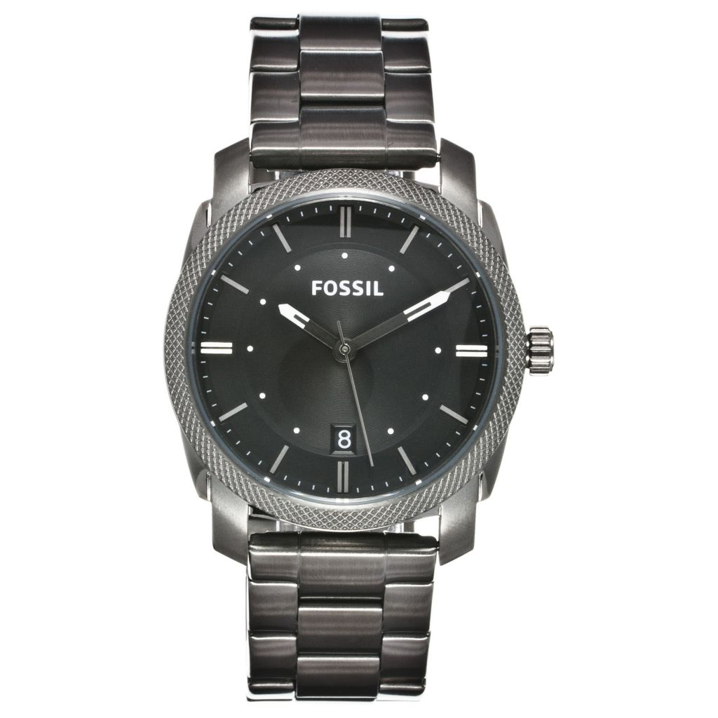 624-609 - Fossil 42mm Machine Quartz Stainless Steel Bracelet Watch