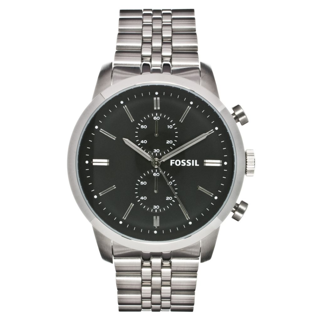 624-611 - Fossil Men's Townsman Quartz Chronograph Stainless Steel Bracelet Watch