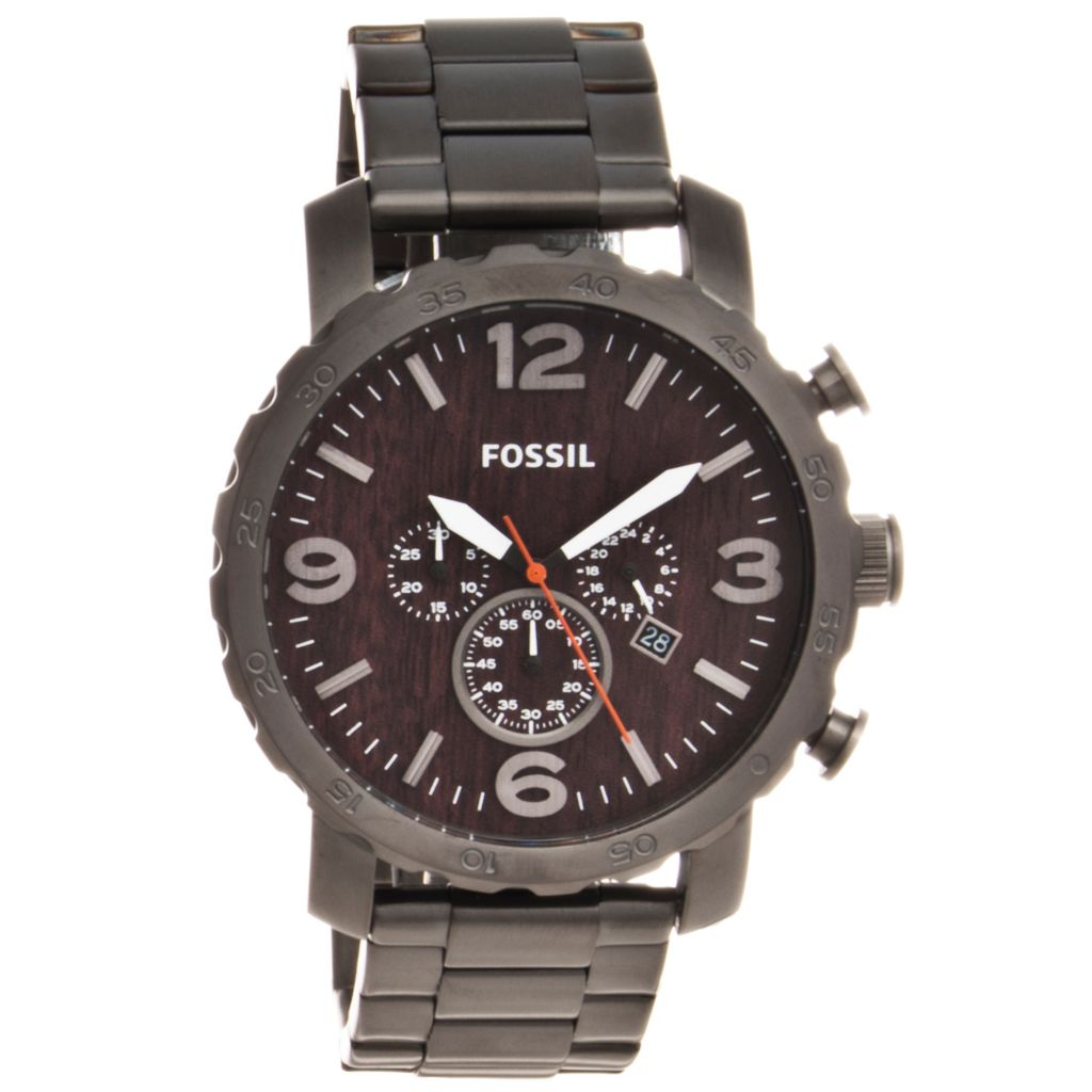 624-617 - Fossil Men's Nate Quartz Chronograph Stainless Steel Bracelet Watch